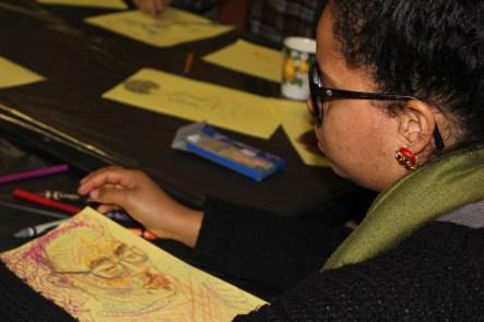 Mikaela Erskog drew her friend Lihle Asanti Ngcobozi in crayons. IMAGE: Chelsea Haith