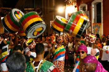 Olodum perform at the Salvador carnival in 2010