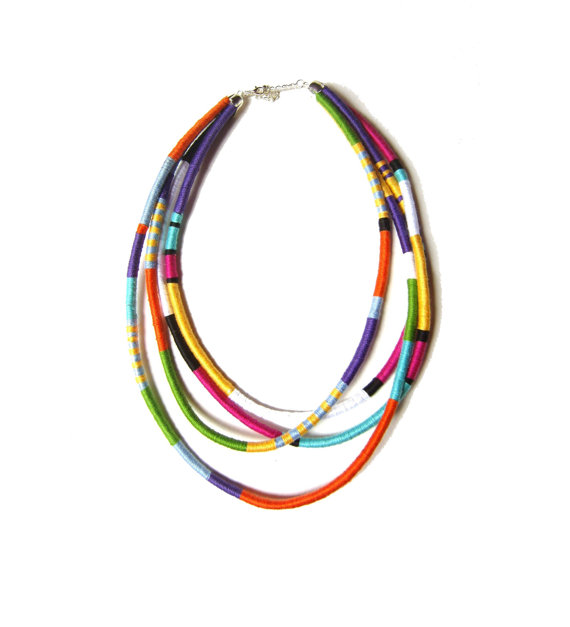 ABY Lust Item Of The Day: Jewellery By Jora Multicolour Statement Thread Necklace