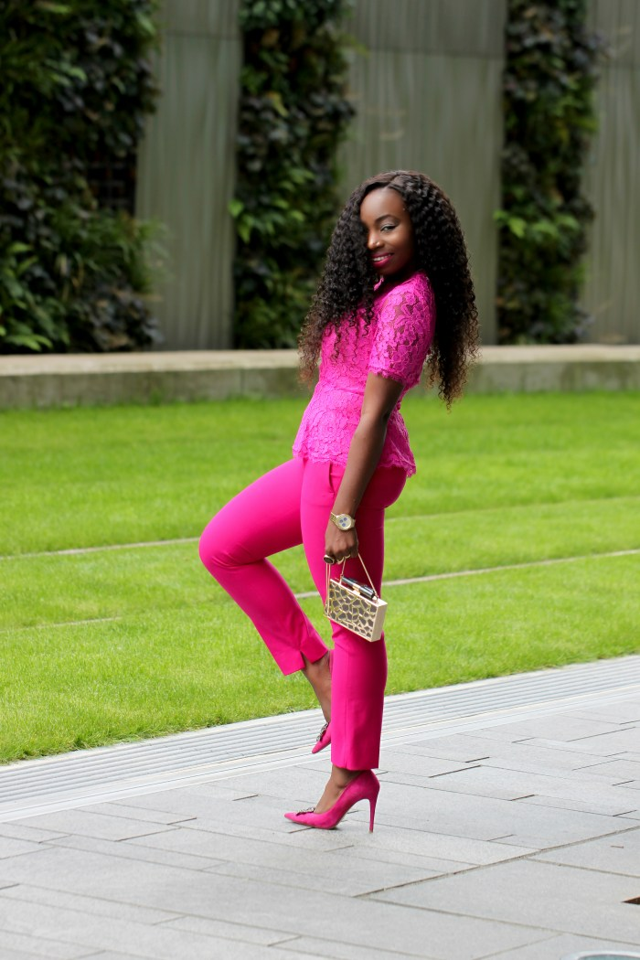 pink panther outfit monochrome a