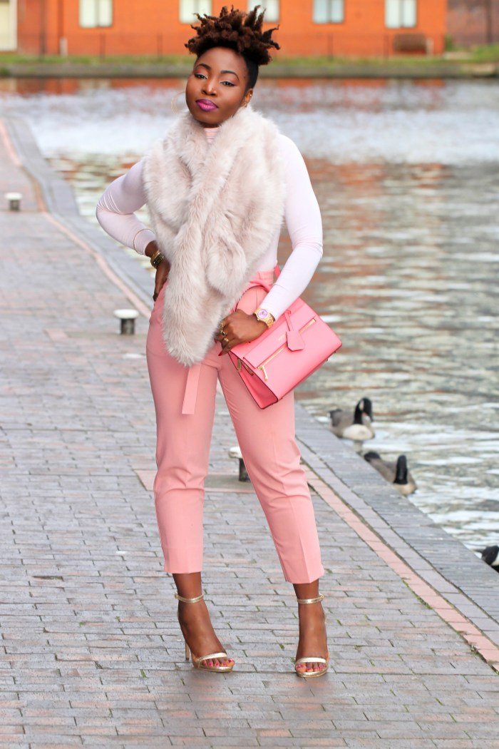 faux fur outfit afro hair a