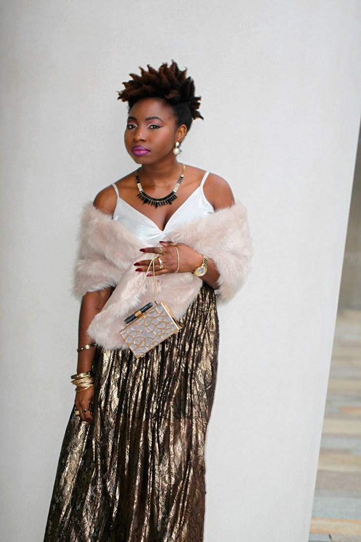 coast metallic maxi sheer skirt look a