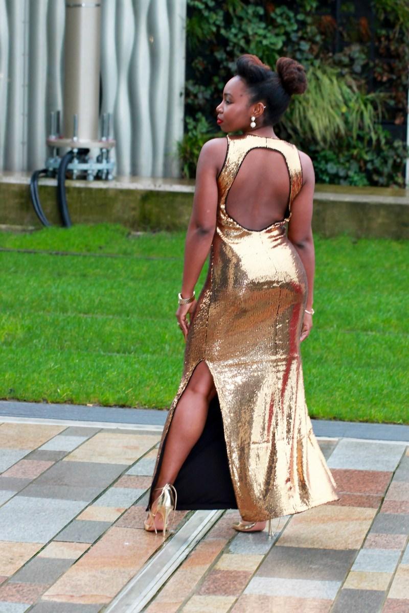 gold sequin nye party dress vila asos a