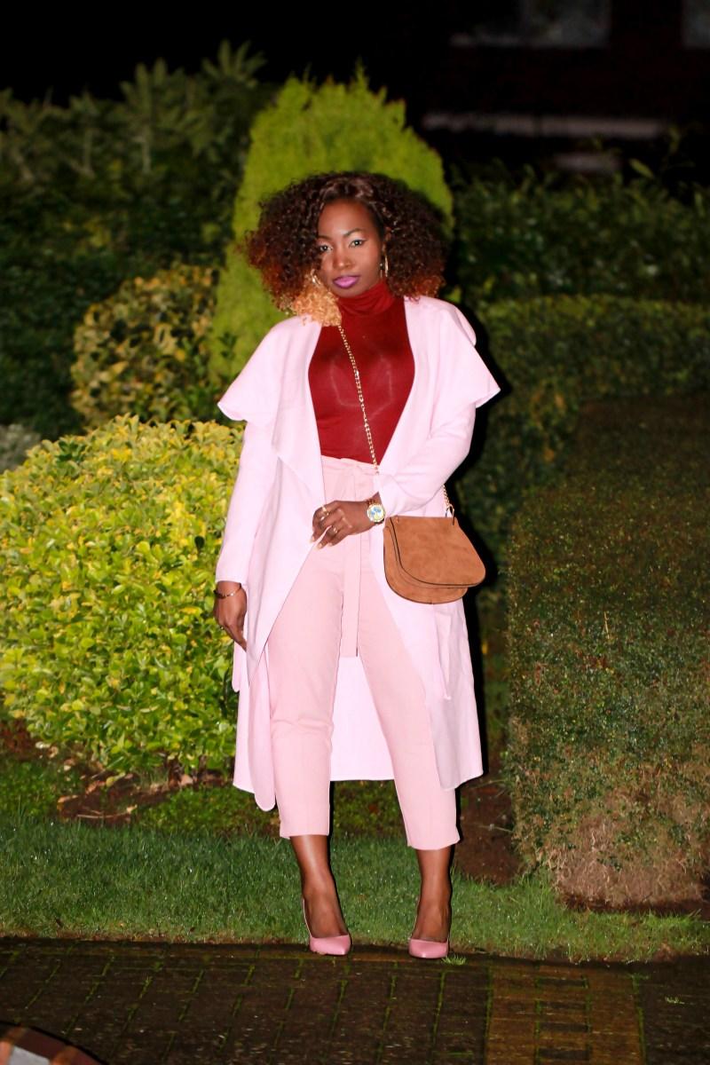 dusty pink shein coat saint laurent pink heels a