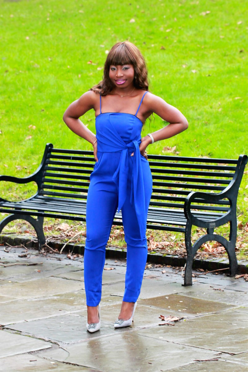 electric blue jumpsuit dune breanna court shoes a