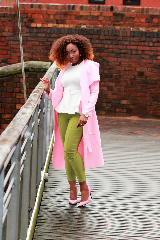 green ankle grazer trousers asos saint laurent heels a