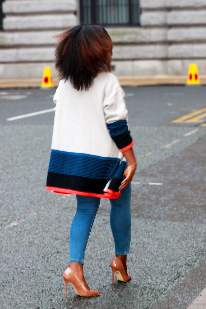 choies colour block cardigan jumper