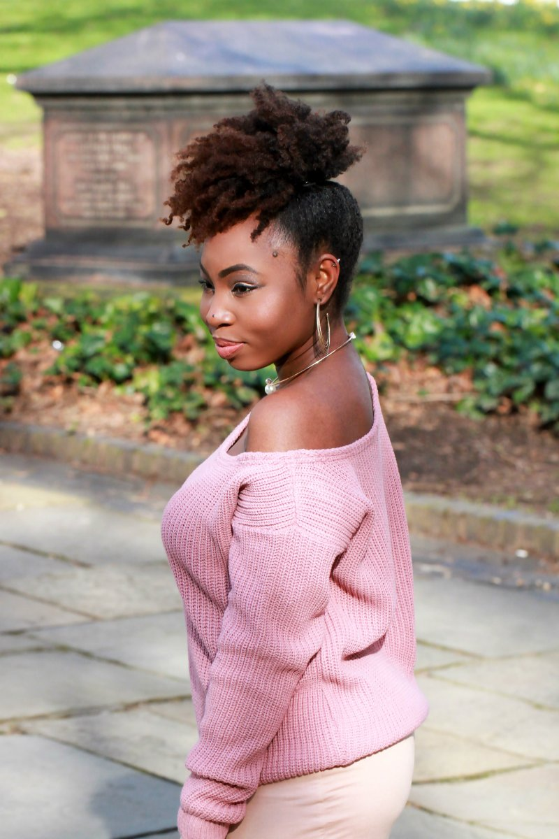 mauve jumper nude missguided outfit a