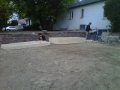 Construction of raised beds.