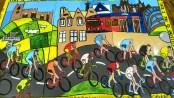 Tour de France mural