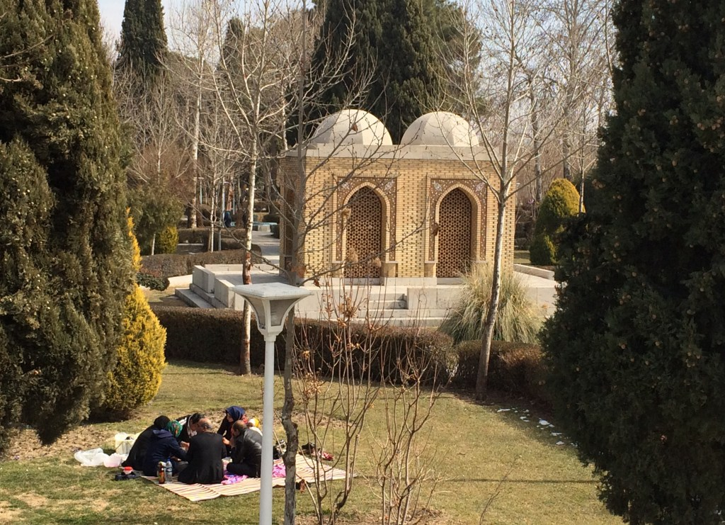 Tomb of Arthur Pope and Phyllis Ackerman. Isfahan, Iran. Photo by Helen Evans.