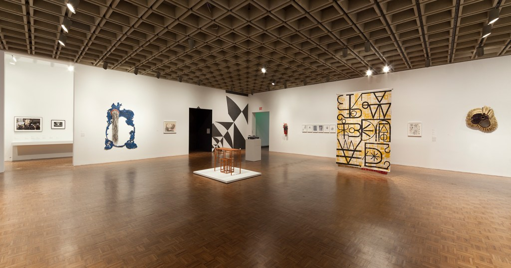 Installation view Whitney  Biennial 2014 ( March 7 – May 25, 2014), 2nd floor.  Whitney Museum of American Art,  New York.   Photograph by Sheldan C. Collins
