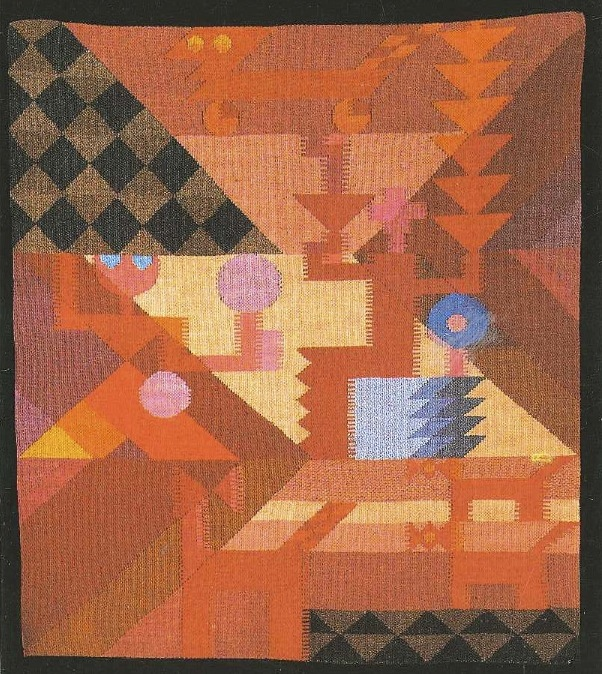 Fig. 2. Sophie Taeuber, Tapestry, c. 1916/18, 80 x 67 cm, Fondazione Marguerite Arp, Locarno. © 2014 Artists Rights Society (ARS), New York / VG Bild-Kunst, Bonn