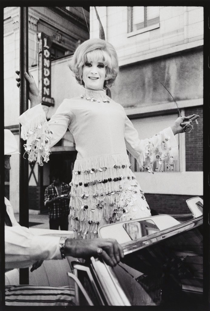 Anthony Friedkin May Doll, Gay Liberation Parade, Hollywood, 1972 Gelatin silver print 14 × 11 in. (35.6 × 27.9 cm) Fine Arts Museums of San Francisco Anonymous gift