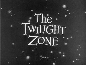 Still from the opening credits of The Twilight Zone, Season 1, November 20, 1959. Image provided by CBS via Getty Images.