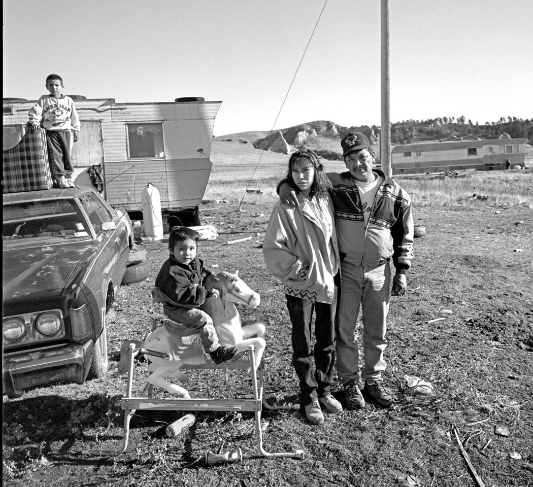 Oglala Sioux Family, Pine Ridge Indian Reservation, Pine Ridge, South Dakota, December 14th, 1996