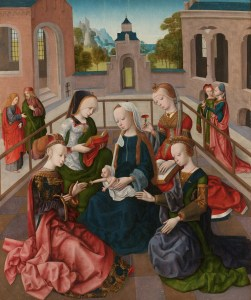 Master of Virgo inter Virgines, Madonna and Child with St Catharine, St Cecilia, St Barbara and St Ursula, c. 1495-1500 (oil on panel). Rijksmuseum, Amsterdam
