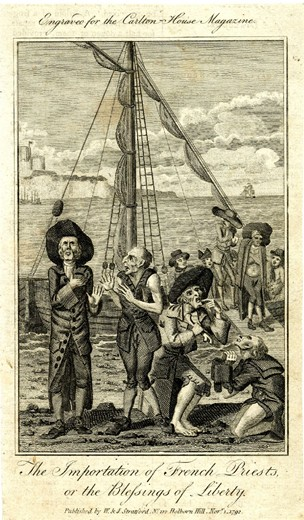 Anon., The Importation of French Priests, or the Blessings of Liberty, 1792. British Museum, London.