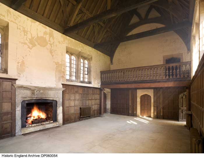 The Great Hall of Apethorpe built by a royal courtier, Sir Guy Wolston, in 1470.