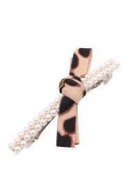 leopard bow hair pin - accessories