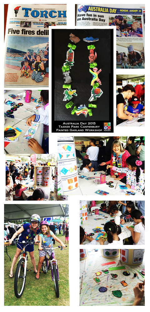 photo collage of australia day event