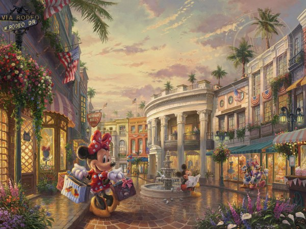 Mickey and Minnie Thomas Kinkade Disney Paintings