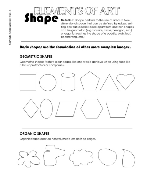 geometric shapes vs organic shapes