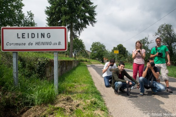 The Art Bridges team in Leidingen/Leiding (without Teona)