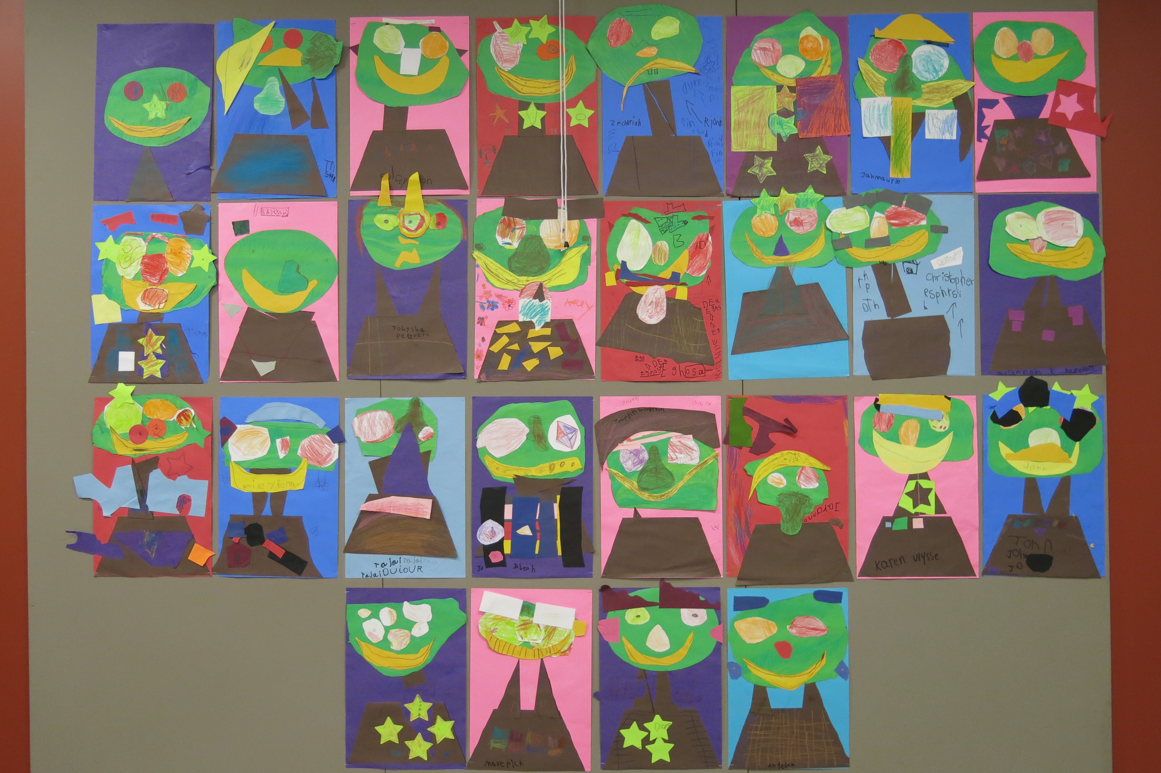 Art Is A Face Made With Apples And G S Kindergarten