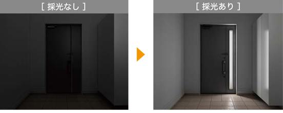 玄関ドア採光なし採光あり