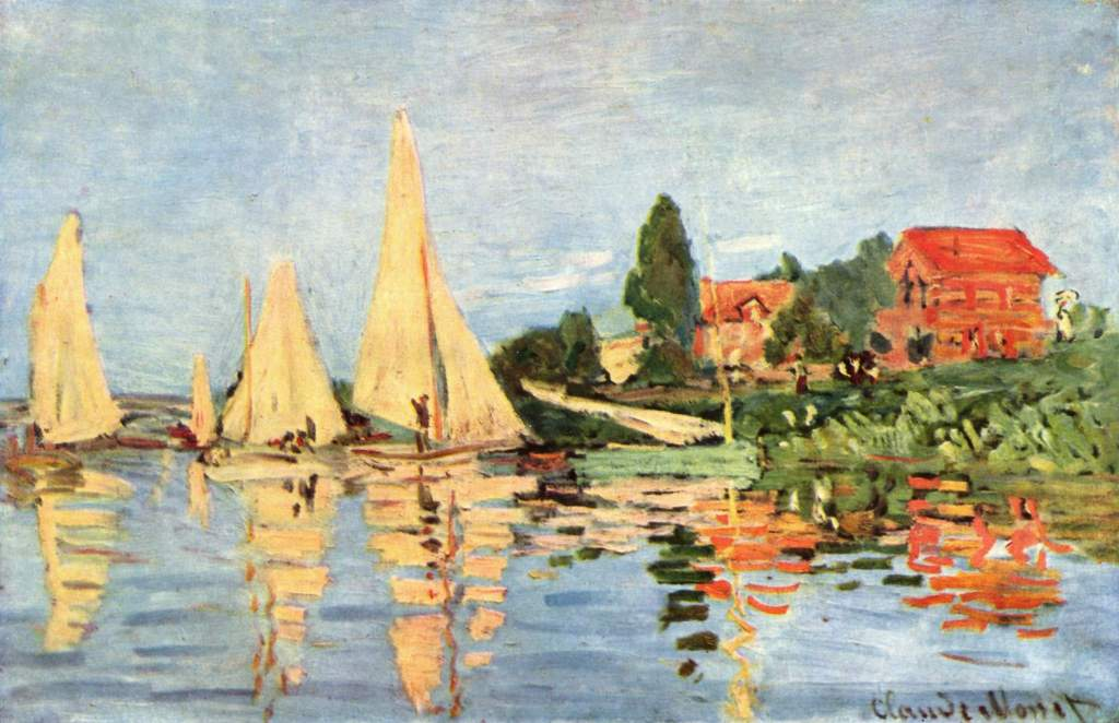 Famous Artists Fridays: Claude Monet Regatta at Argenteuil. | ArtbyAmandaHilburn.com #art #famousartists