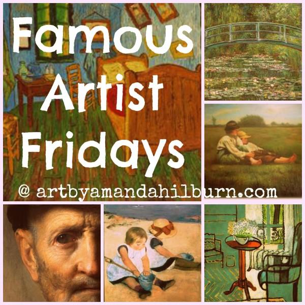Famous Artist Fridays | The Little Bluebird Gallery, Art by Amanda Hilburn