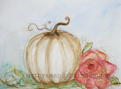 Shabby Chic Pumpkin Print