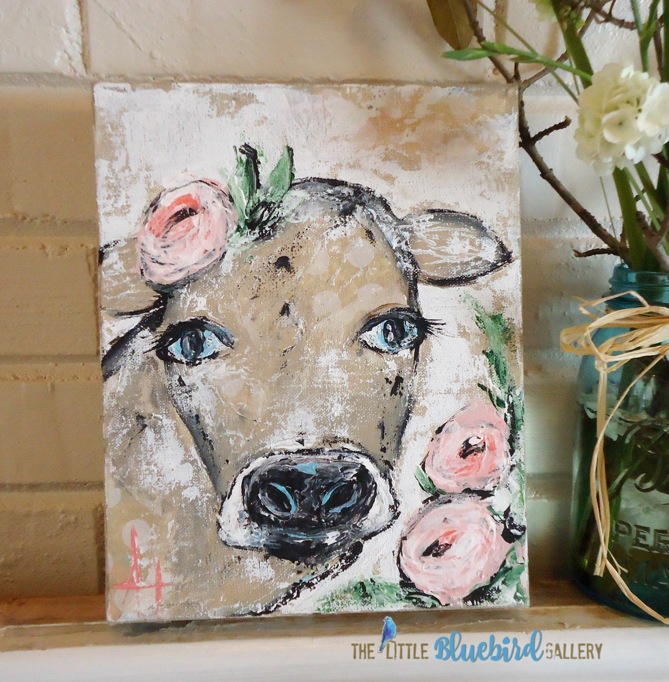 Promise the Cow; Original Acrylic Painting