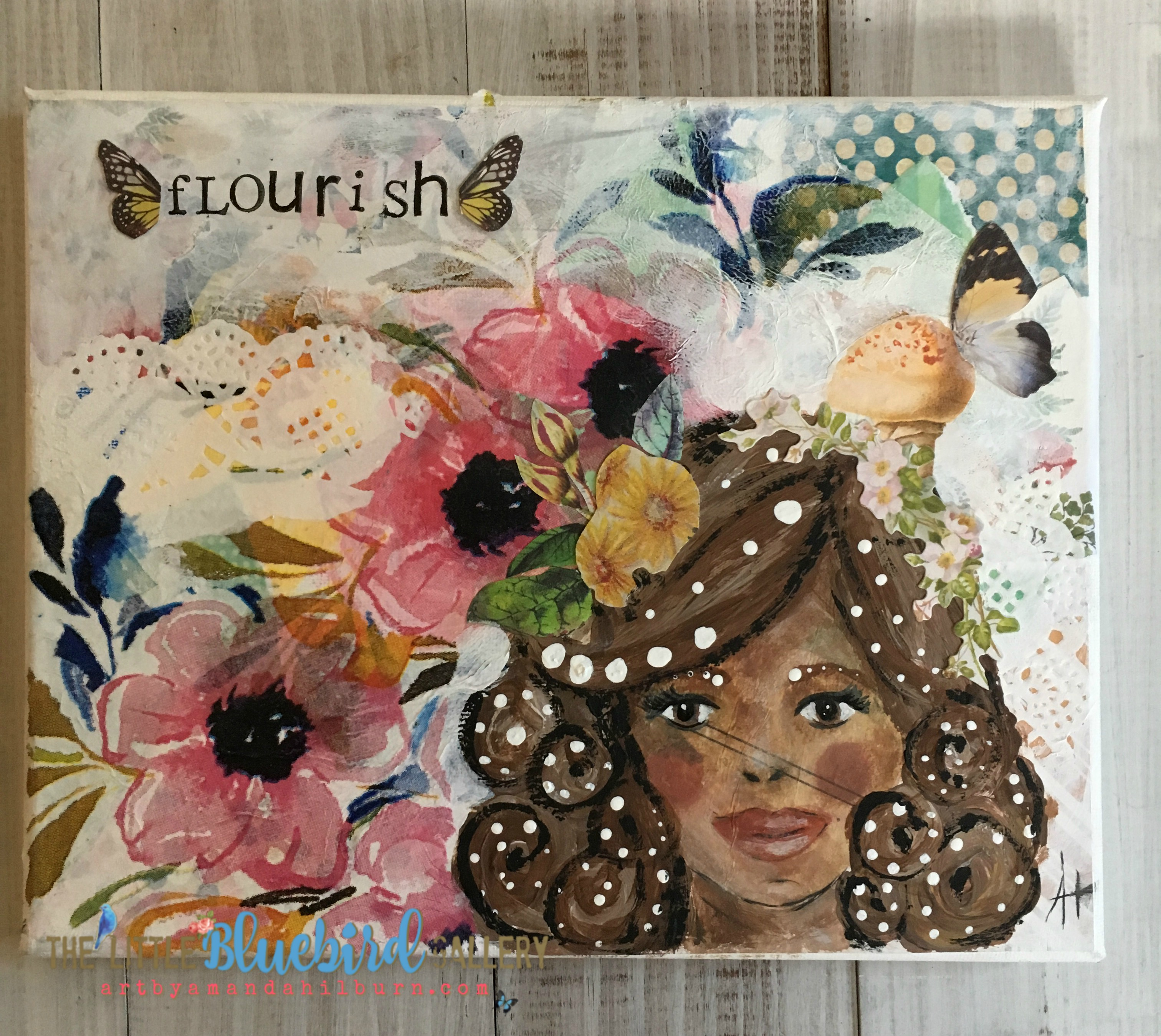 Flourish; Original Mixed Media Painting