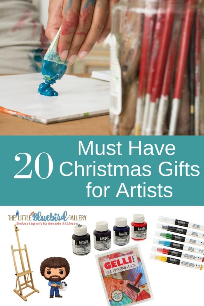 20 Must Have Artist Gifts that Every Artist Needs in their Studio | ArtbyAmandaHilburn.com #thelittlebluebiredgallery #art #artists #gifts