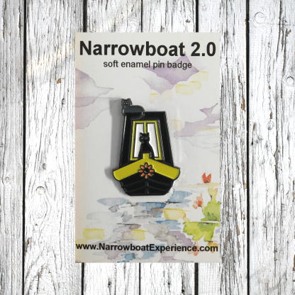 narrowboat pin badge