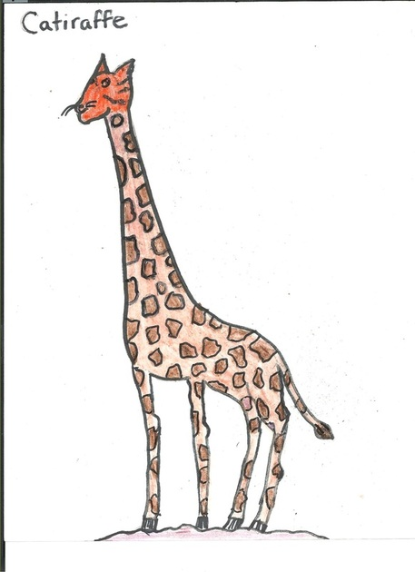 Two Animals Combined Drawing : animals, combined, drawing, Mixed, Animals