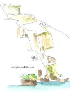 Positano - mountain profile