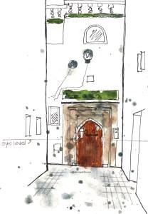 Perspective - Mosque doors