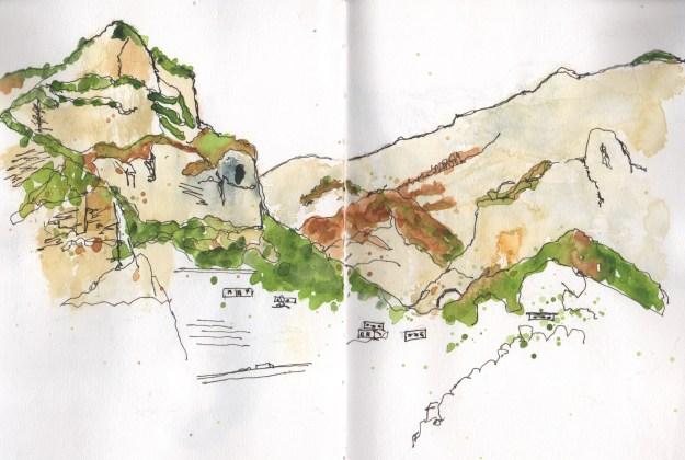 Positano mountain view 1 north