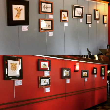 Lost Dog restaurant art display