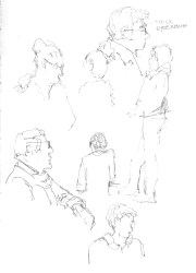 Nov 1 - practicing people at Aix-en-Provence train station