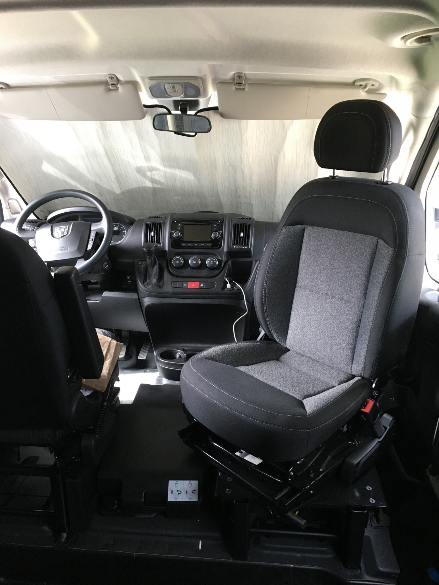 Passenger swivel and windshield cover