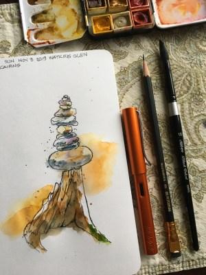 Rock cairn at Watkins Glen