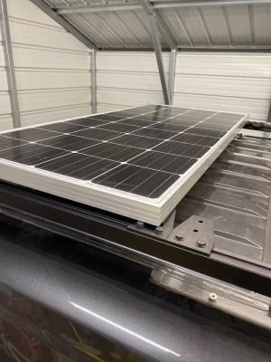 Solar panel on rail