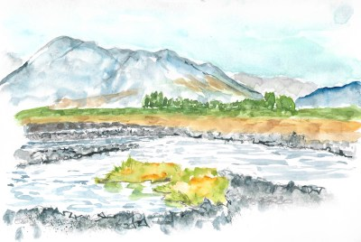 Sketch at the Oreti River
