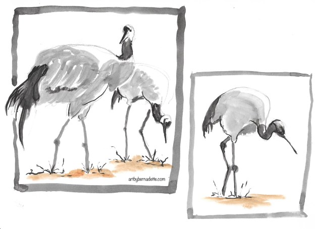 Japan tonal study Cranes