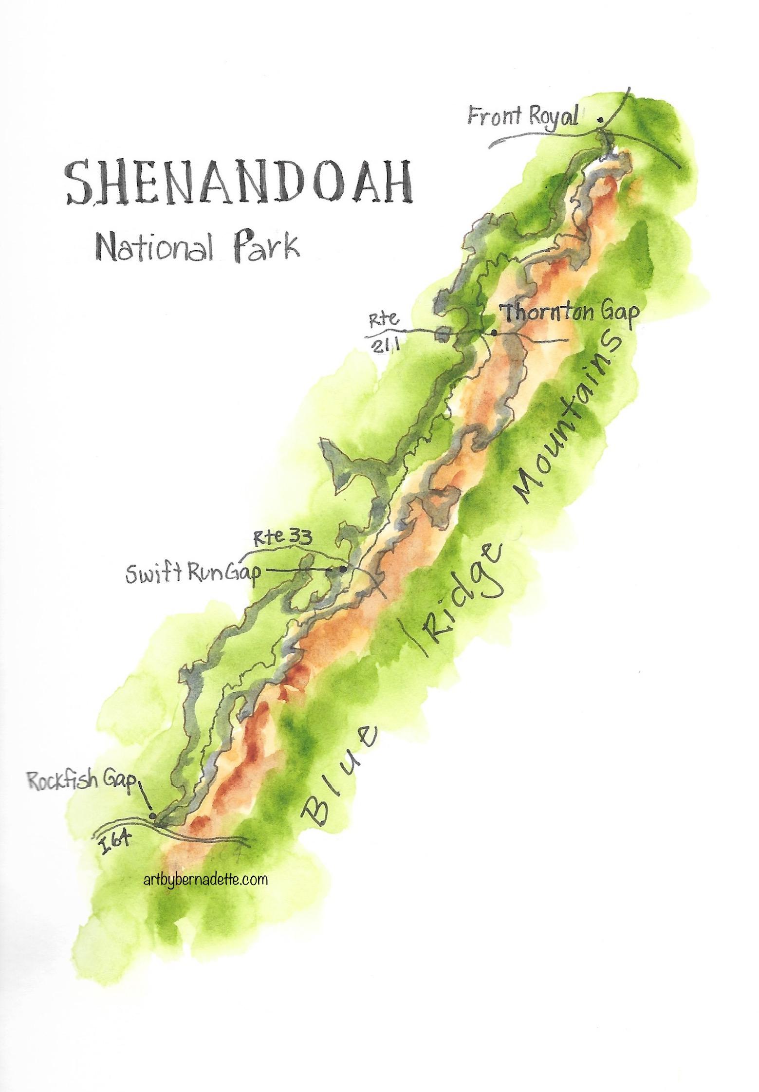 Shenandoah Park map