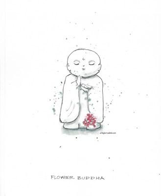 Flower buddha